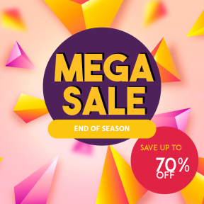 Mega Sale End of Season Banner