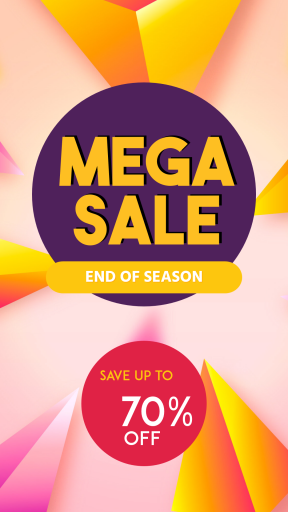 Mega Sale End of Season Banner