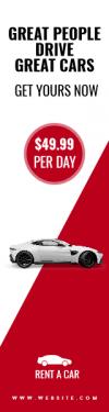 Rent A Car Sale Banner