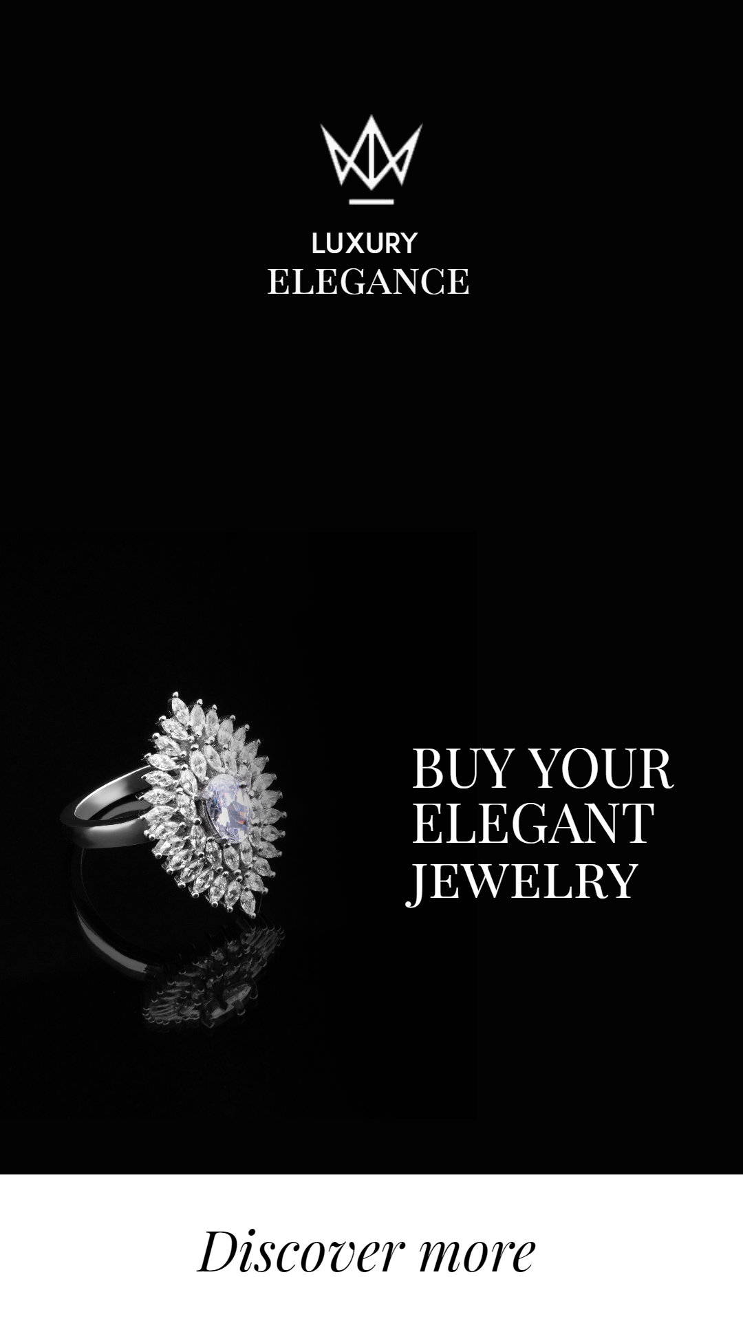 Diamond Ring Jewelry Sale Banner Animation  Template