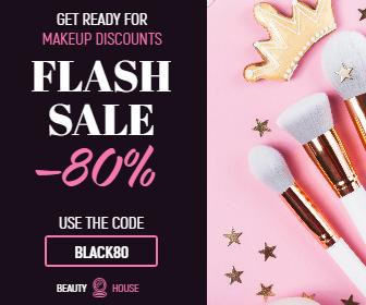 Flash Sale Makeup Banner Animation  Template