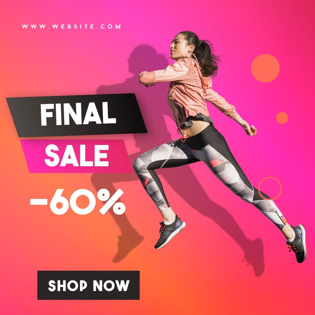 Gym Fashion Final Sale Banner Animation  Template