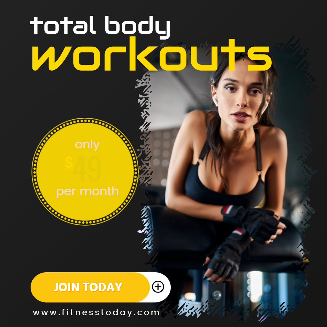 Gym Workout Sales Banner Animation  Template