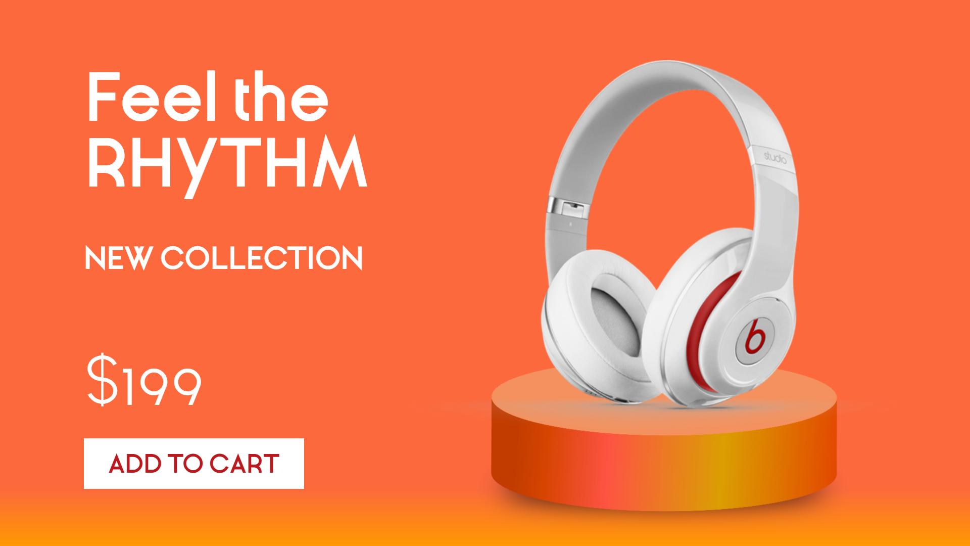 Headphones Sales Banner Animation  Template