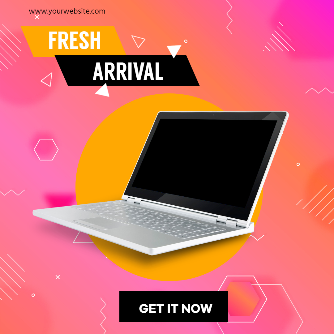 Laptop New Arrival Sales Banner Design  Template
