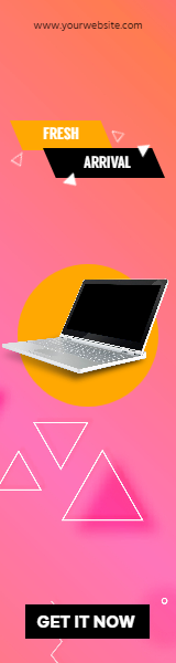 Laptop New Arrival Sales Banner Design  Template