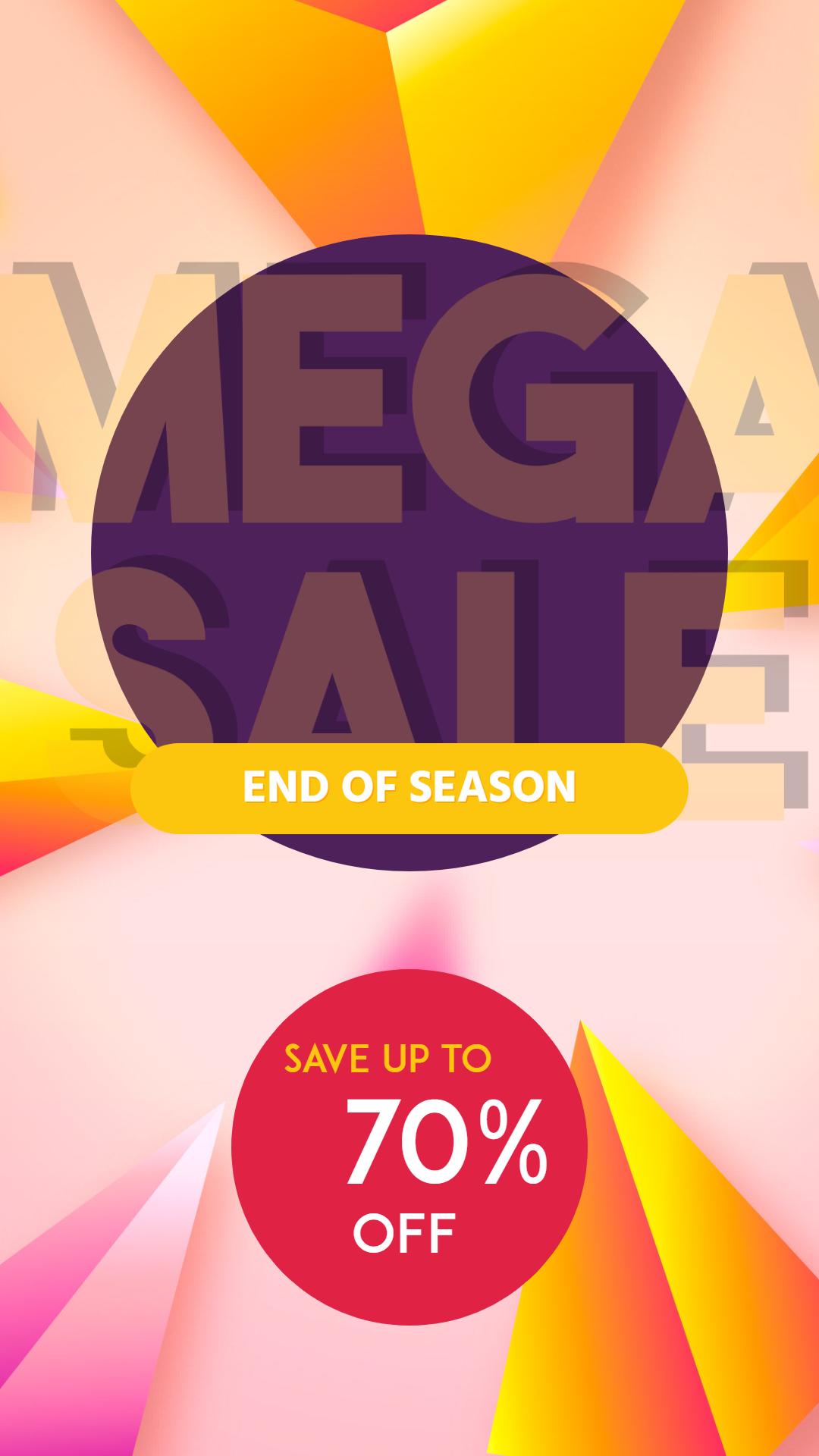 Mega Sale End of Season Banner Animation  Template