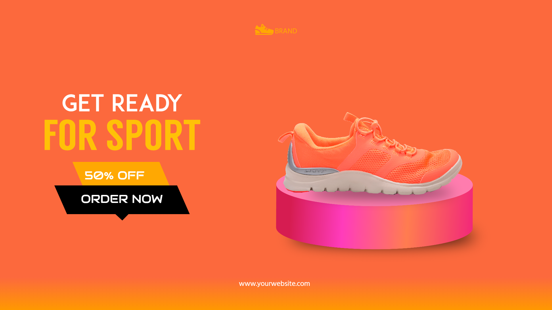 Running Shoes Sales Banner Design  Template
