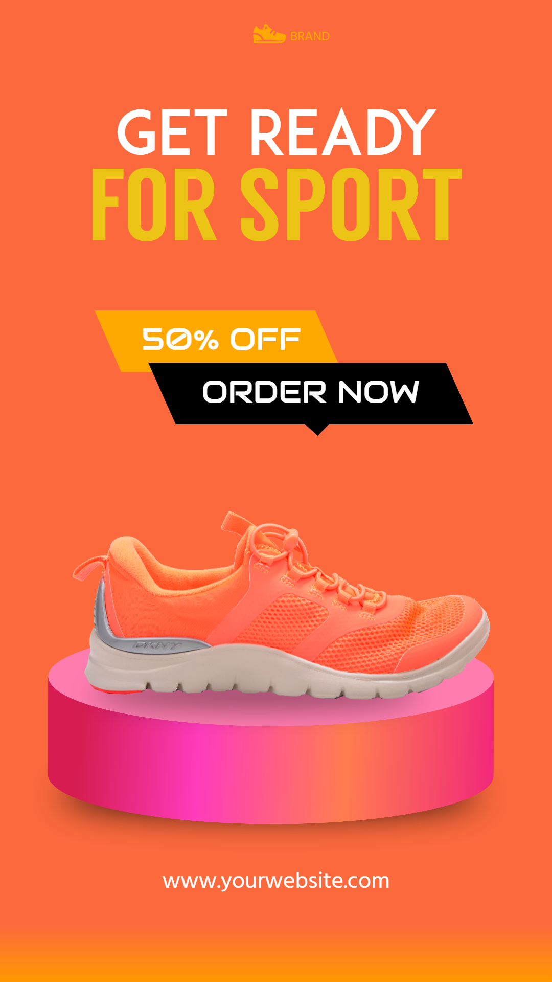Running Shoes Sneaker sSales Banner Animation  Template