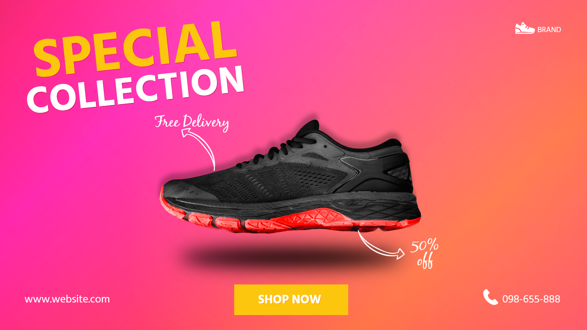 Sneakers Sport Gym Sale Banner Animation  Template