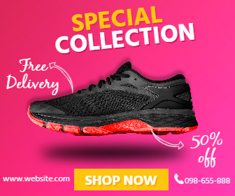 Sneakers Sport Gym Sale Banner Design  Template