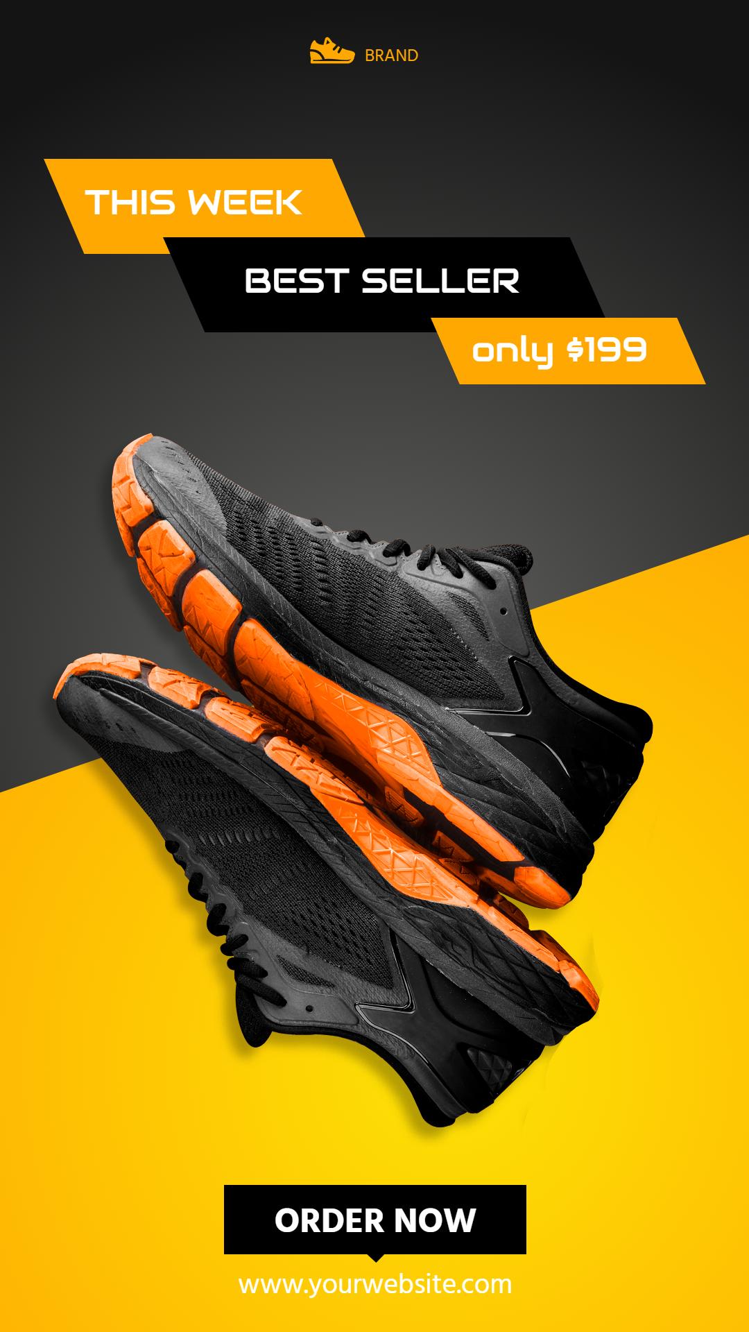 Sport Shoes Sale Banner Design  Template