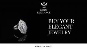Diamond Ring Jewelry Sale Banner