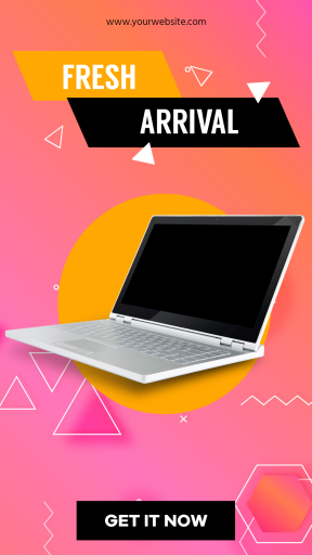 Laptop New Arrival Sales Banner