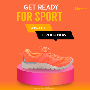 Running Shoes Sales Banner