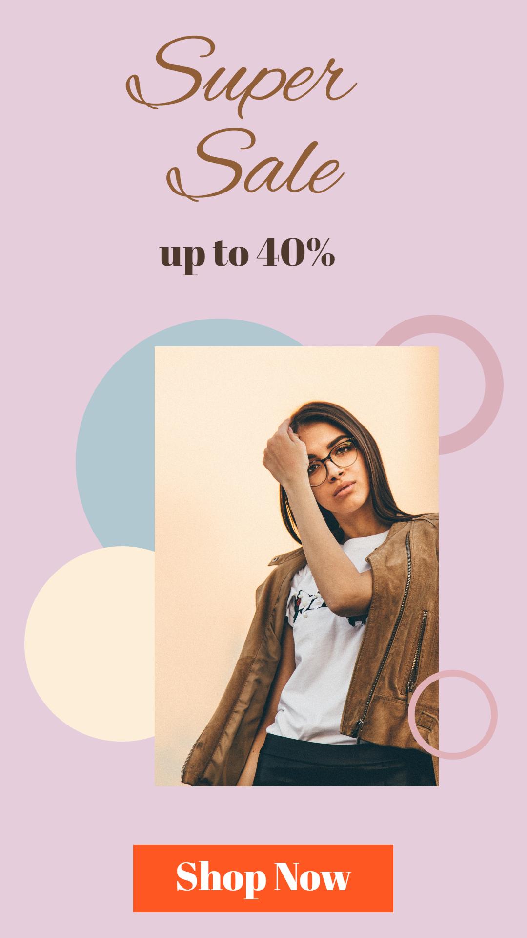 Fashion Sales Banner Design  Template