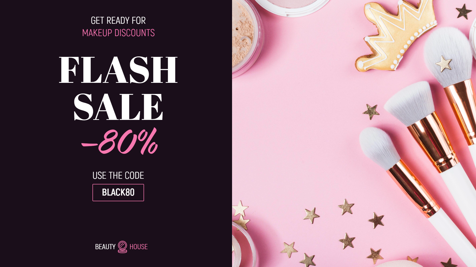 Flash Sale Makeup Banner Design  Template