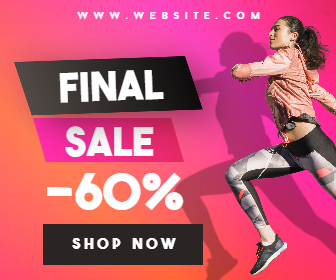 Gym Fashion Final Sale Banner Design  Template