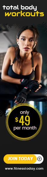 Gym Workout Sales Banner Design  Template
