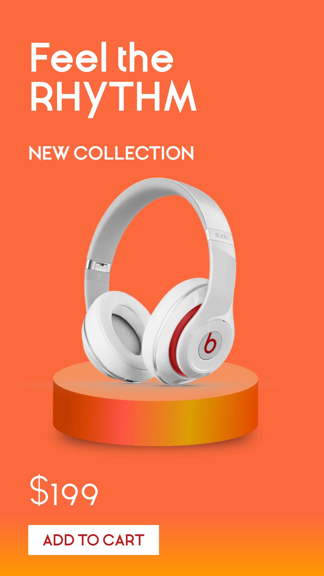 Headphones Sales Banner Design  Template