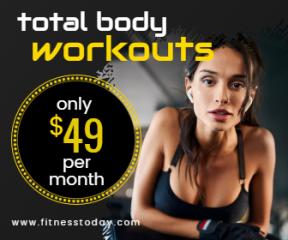 Gym Workout Sales Banner