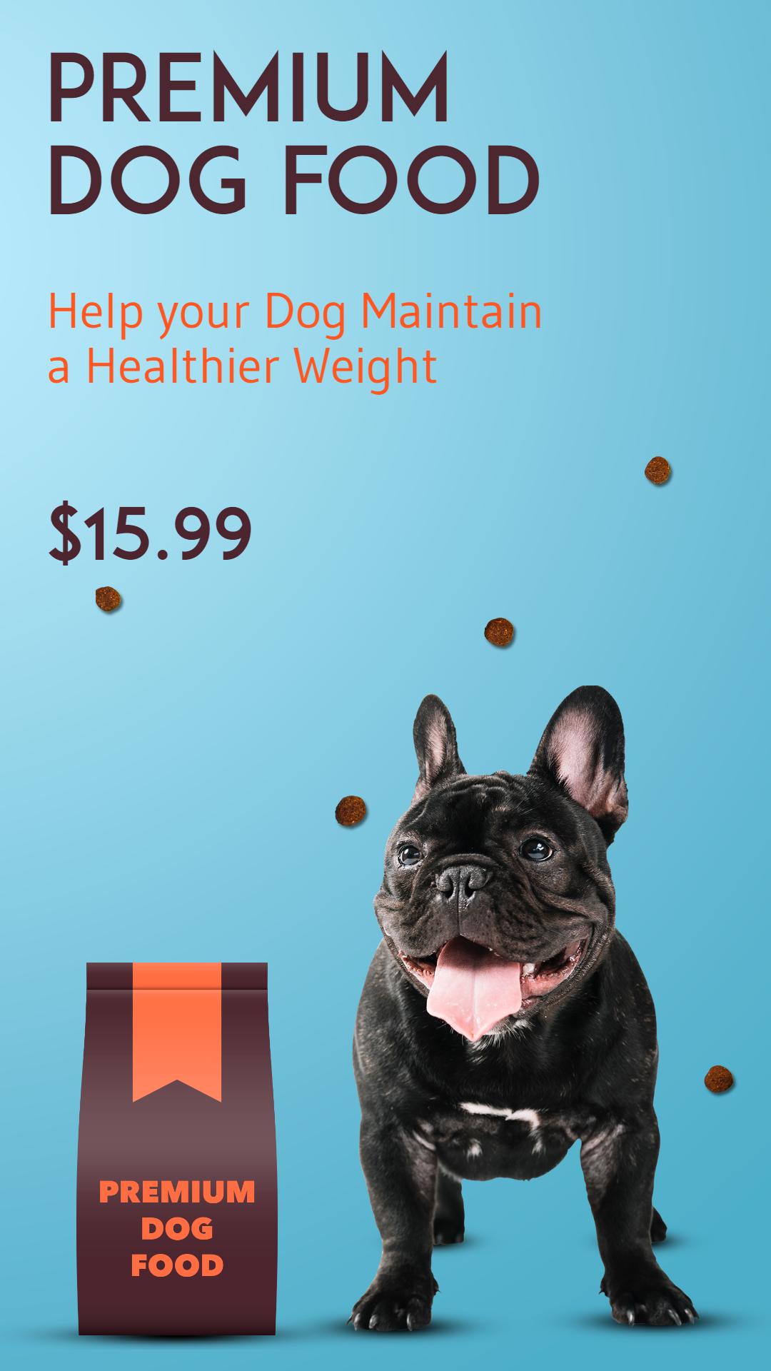 Dog Food Premium Pet Food Animation  Template