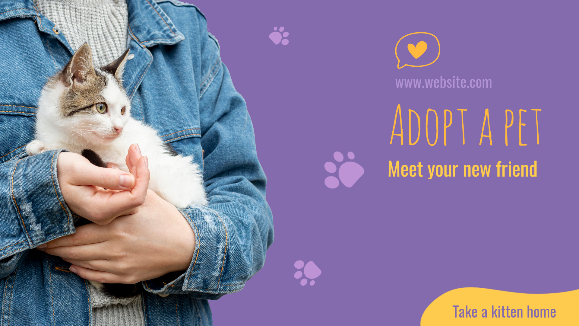 Adopt Cat Pet Animation  Template