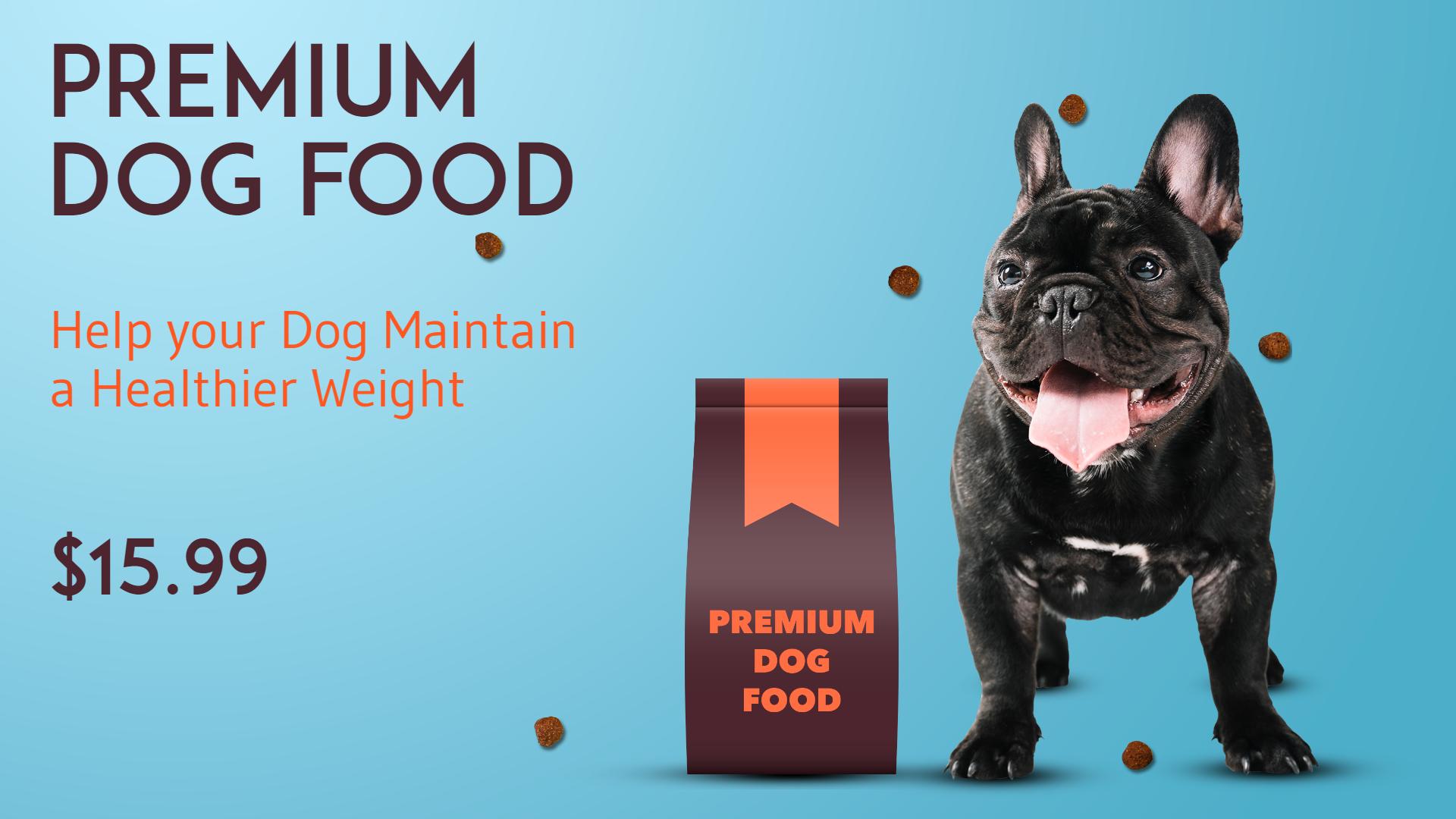 Dog Food Premium Pet Food Design  Template
