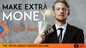 Youtube Financial Advice Make Money Online Passive Income Thumbnail