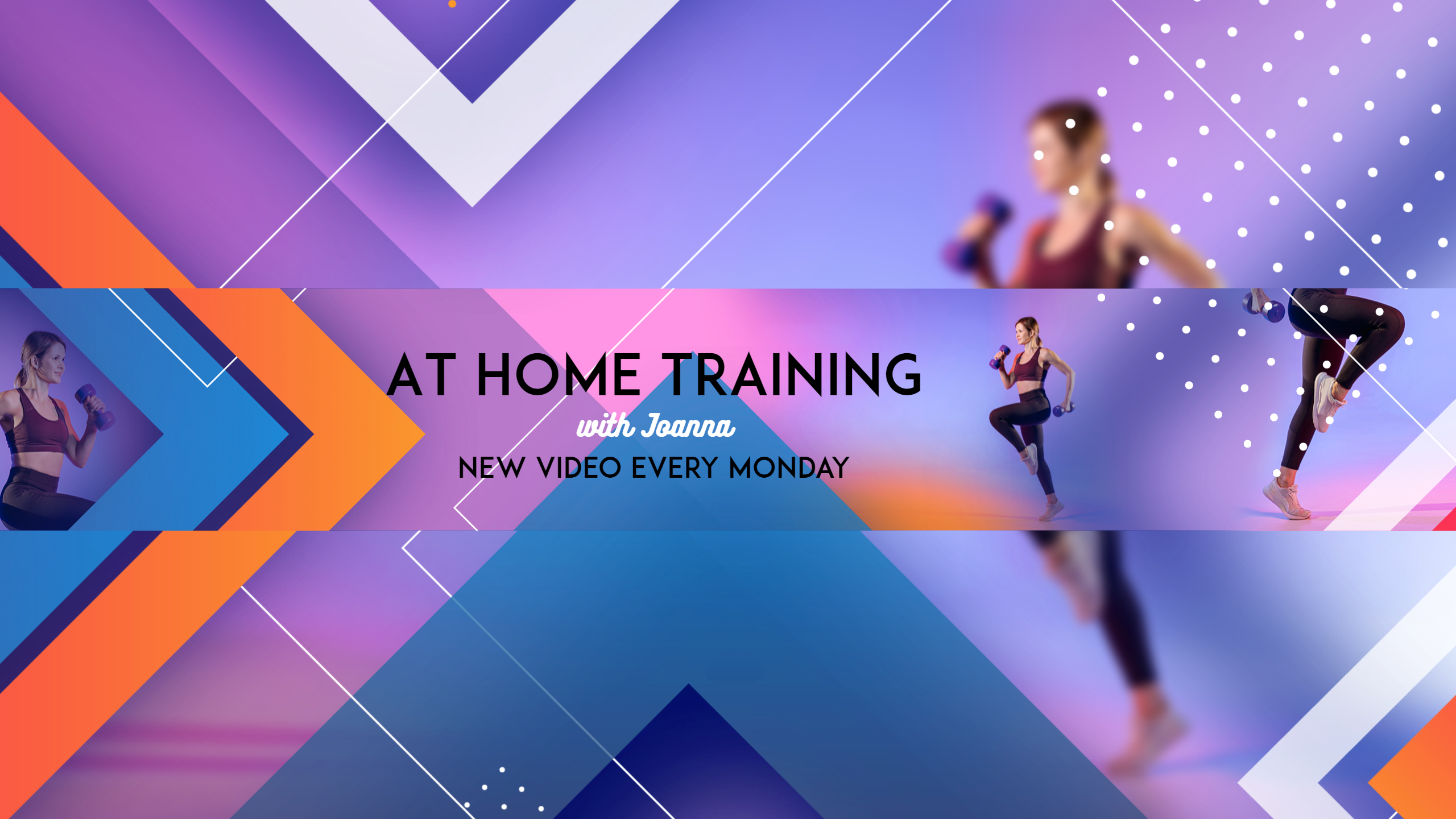 Youtube Fitness Training At Home Design  Template