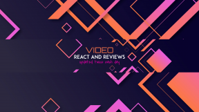 Youtube Video React Reviews Simple Minimal Banner