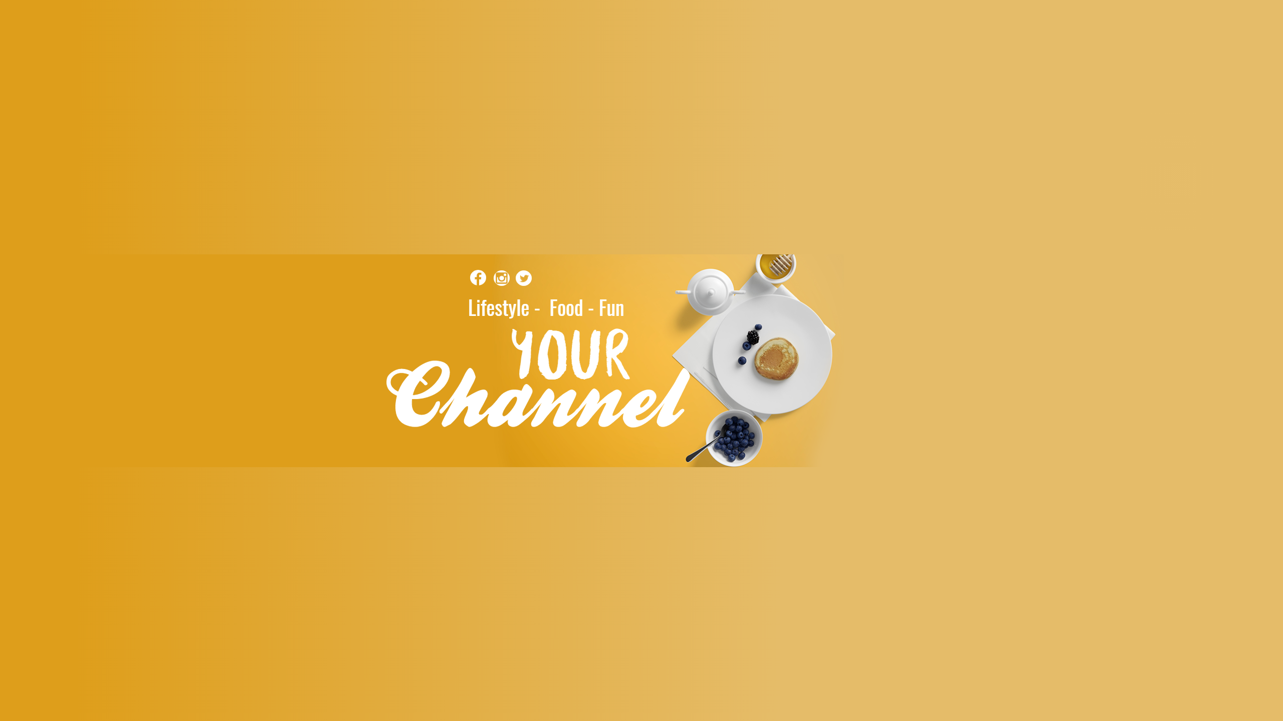Youtube Lifestyle and Food Channel  Design  Template