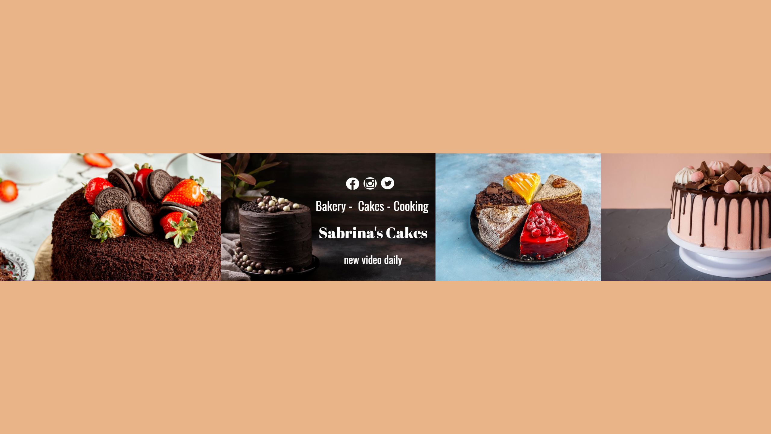 Youtube Bakery Cooking Cake Channel  Design  Template