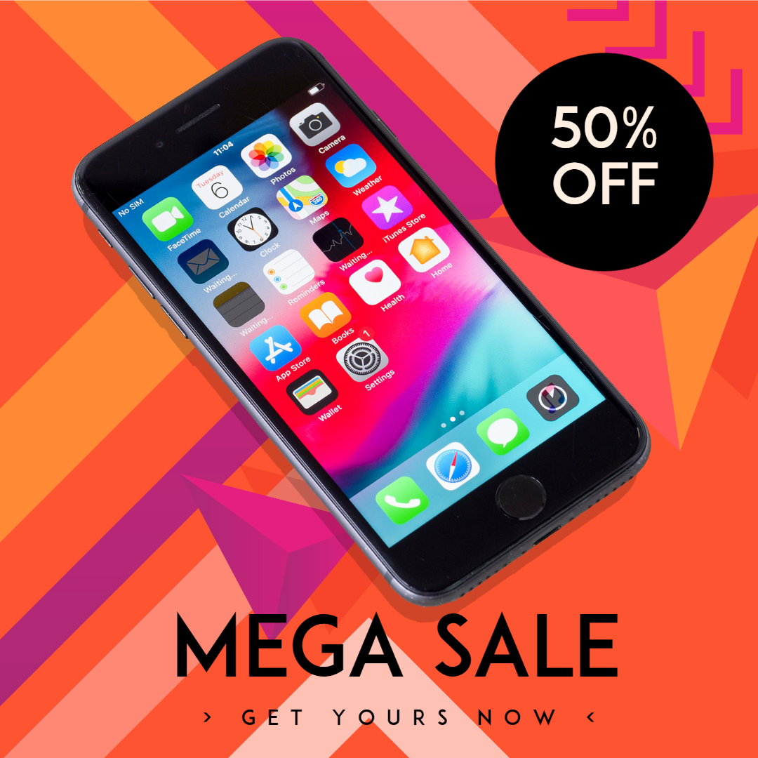 iPhone Sale Banner Design  Template