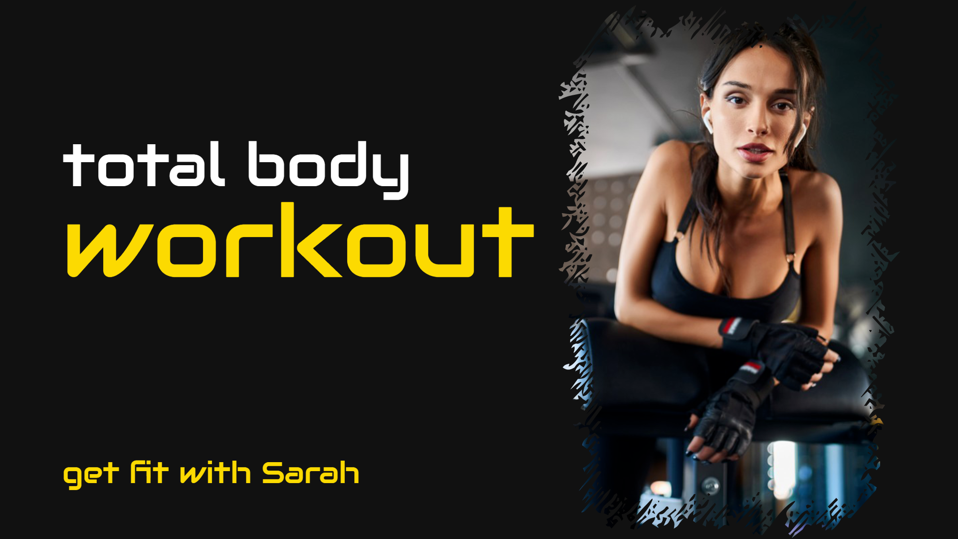 Get fit Total body workout Youtube Design  Template
