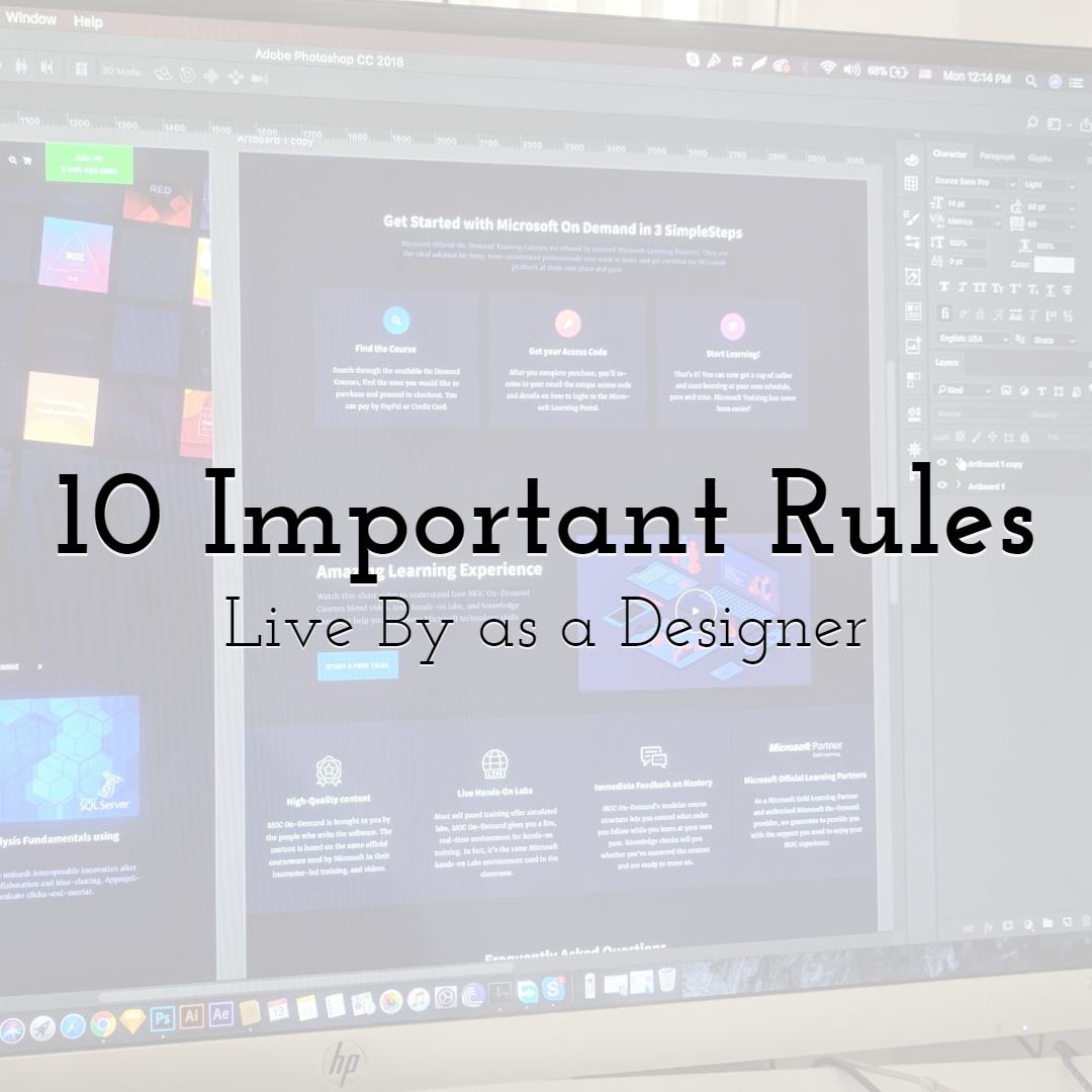 10 Important Rules to Live By as a Designer