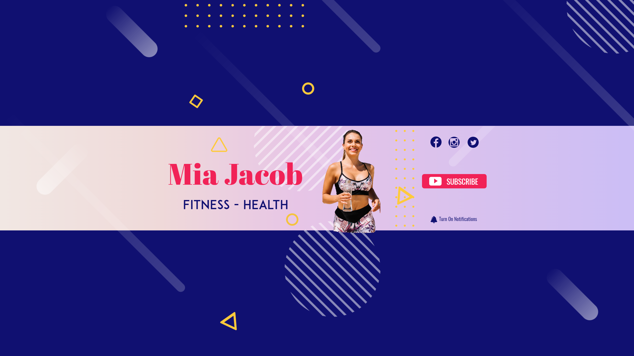 Youtube Lifestyle Fitness Health Design  Template