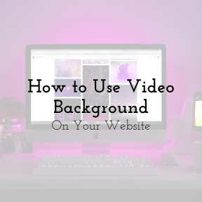 [4] How to Use Video Background On Your Website