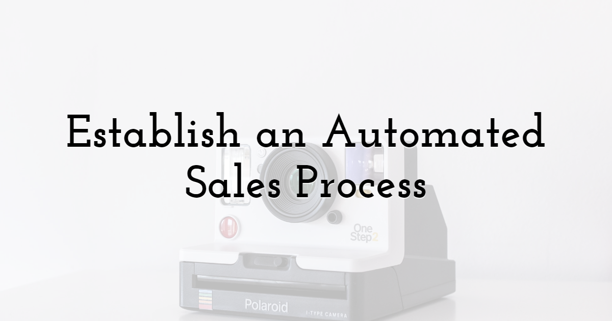 Establish an Automated Sales Process