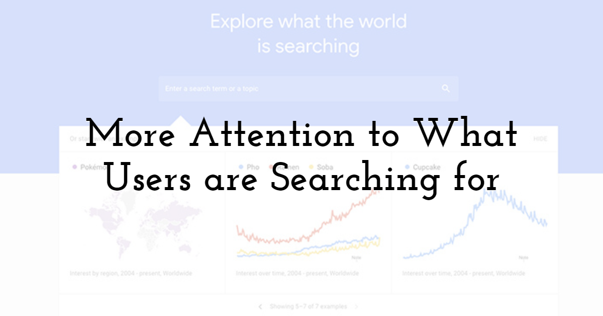 More Attention to What Users are Searching for