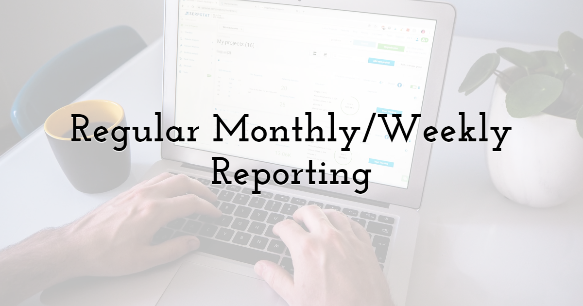 Regular Monthly/Weekly Reporting