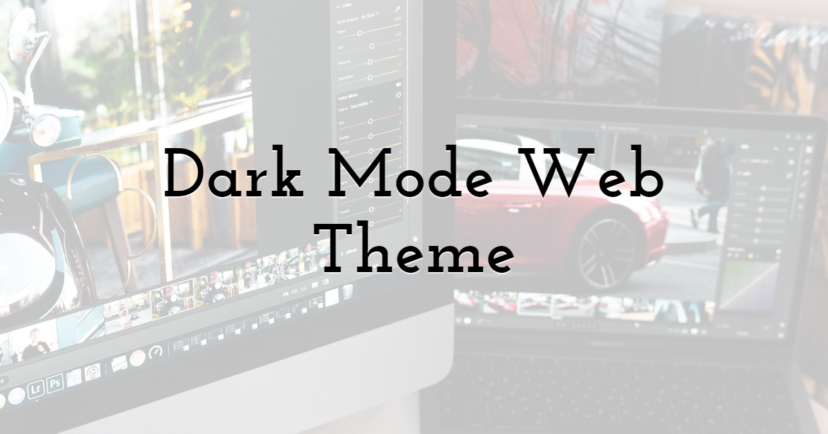 5. Dark mode web theme, a trend to last long in the web design industry.