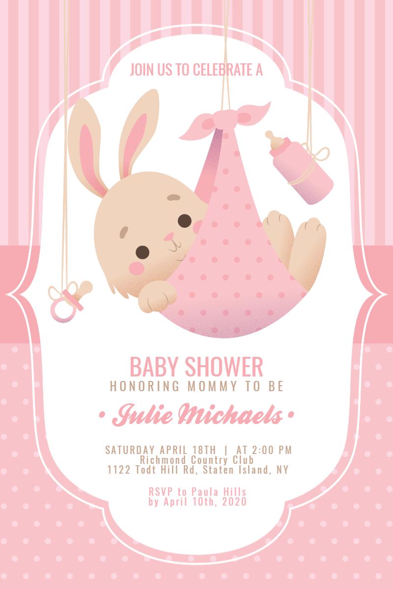 Baby Shower #baby #invitation Design  Template