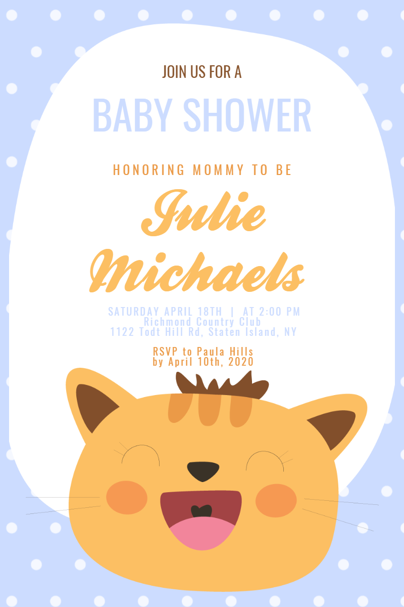 Baby Shower #baby #invitation Design  Template