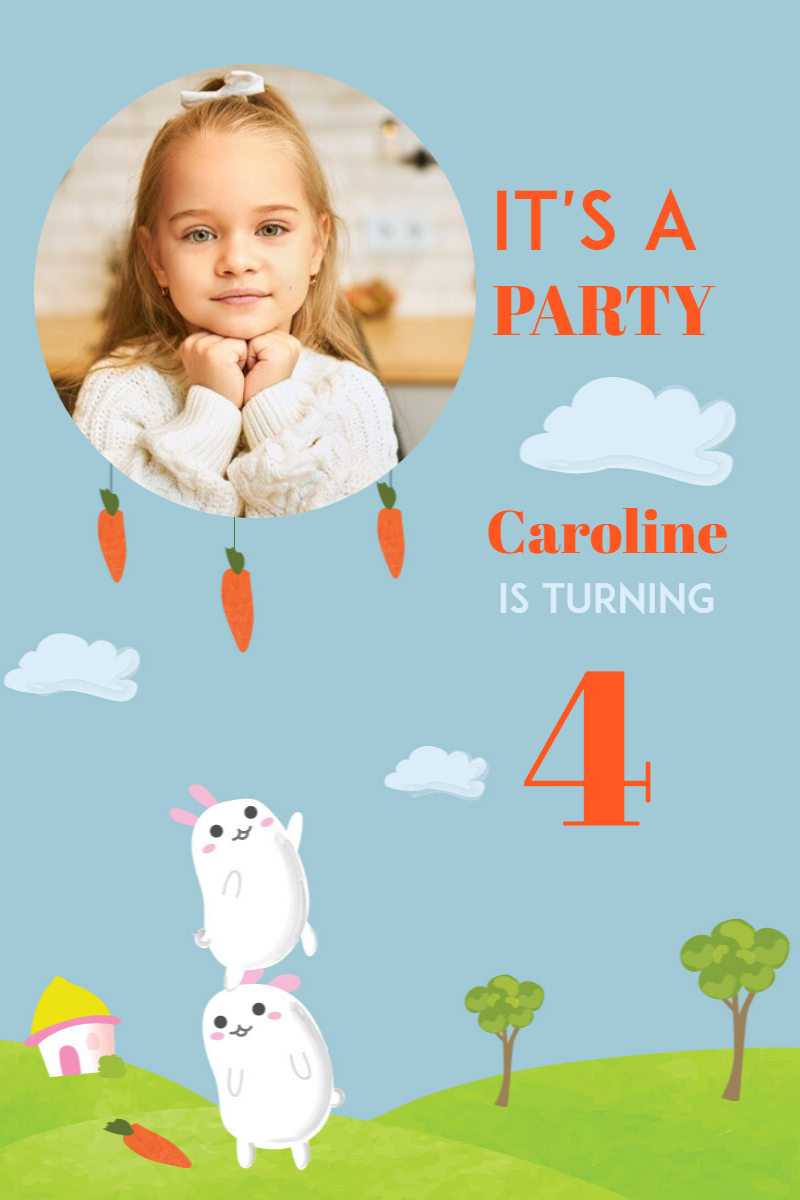 Birthday Party Happy Birthday Kids Design  Template