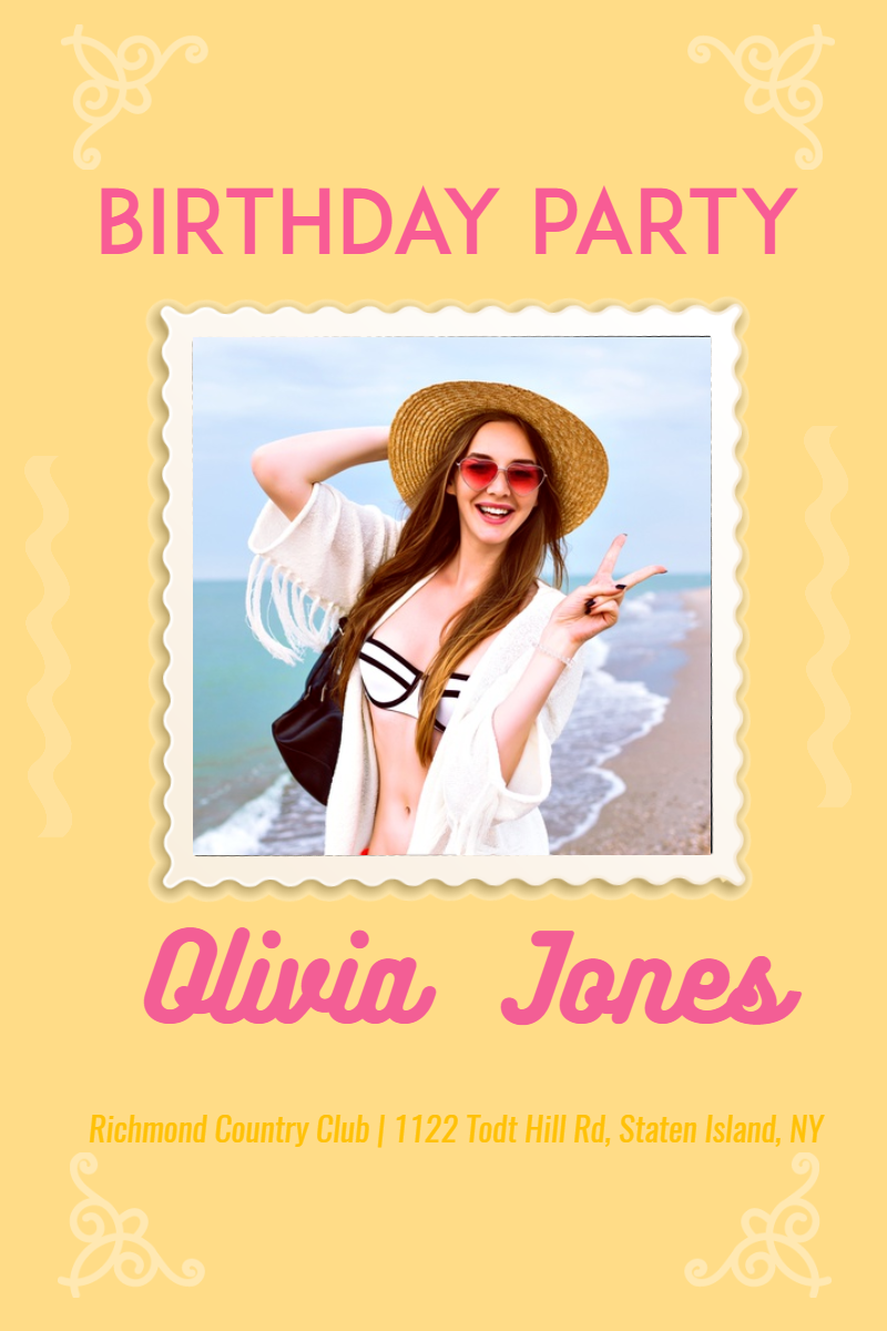 Birthday Party Happy Birthday Party Design  Template