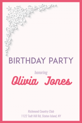 Birthday Party Happy Birthday Party Invitation Elegant Minimal