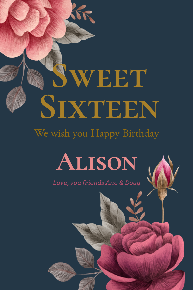Sweet Sixteen #invitation Design  Template
