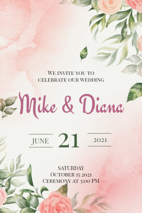 Wedding Party Happy Birthday Party Invitation Elegant Minimal