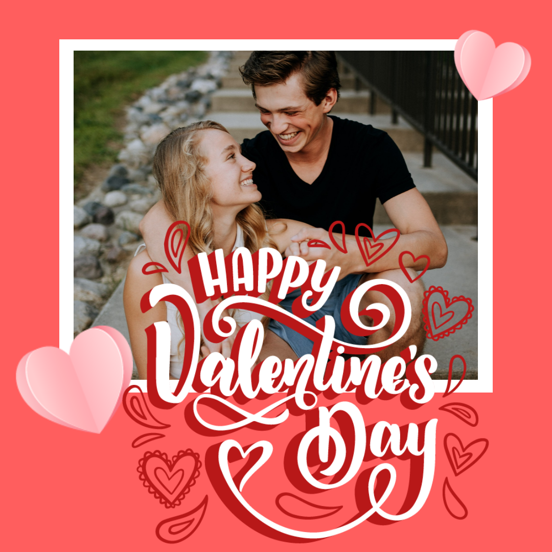Happy Valentine's Day love couple Design  Template